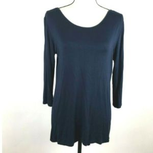 Pebble And Stone Anthropologie Medium Tunic Navy